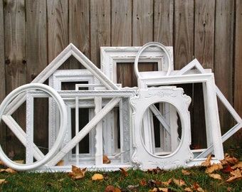 Set of Large wedding white frames wedding Signs seating chart signs photo both props shabby chic