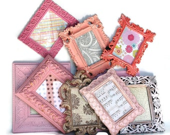 Ornate 5x7 picture frames pinks,silvers,corals YOU choose how many