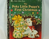 "Little Golden Book ""The Poky Little Puppy's First Christmas"", Vintage Children's Book GREAT Gift to Baby for First Christmas"