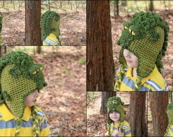 Crochet crocodile hat