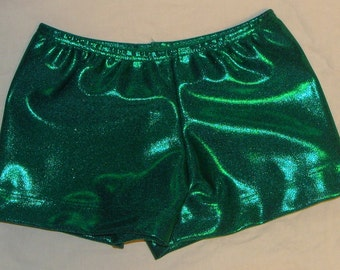 Gymnastics, Dance or Cheer Shorts Kelly green mystique