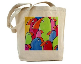 Art Tote Shopping Book Bag The Flock