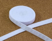 """Underwire Channeling 5 Yards 3/8"""" White Plush for Bra Making DYEABLE 11mm Bra Making"""