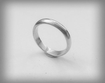 Sterling Silver Wedding Ring/ Band