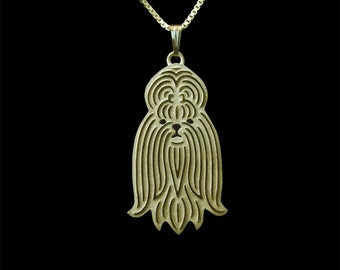 Shih Tzu - Gold pendant and necklace
