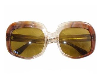 PACO RABANNE Mod. 214 116 1970s Vintage Sunglasses Sunnies Oversized Transparent Baby Rose Blue New Old Stock Unworn Deadstock