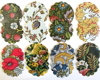 Large French Provincial Floral Paper Die Cuts- 80 Pieces