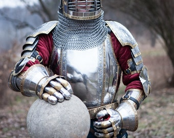 """20% DISCOUNT! Medieval Armor Kit in Western style  """"The King's Guard""""; Armor Costume"""