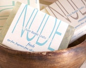 Nude Soap for Everyone: 1 Bar of Handmade All-Natural Soap for Men and Women with Four Options