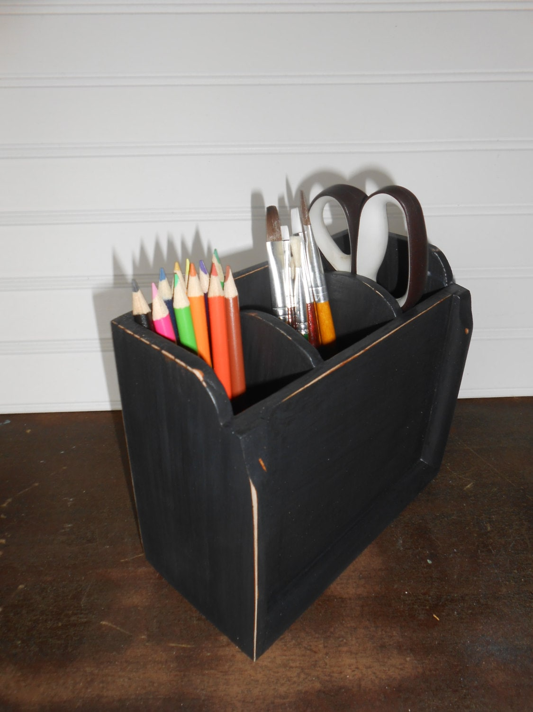 black desk organizer wood organizer preppy desk