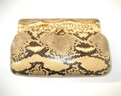 1950s genuine python clutch crossbody handbag