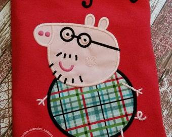 Peppa Pig Daddy Pig Family Birthday Custom Tee Shirt - Customizable - Adults 156