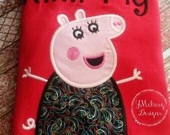 Peppa Pig Family Mummy Pig Birthday Custom Tee Shirt - Customizable -   Adults 169