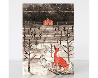 Christmas Greetings Card - Mr Fox