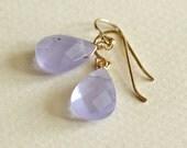 Lavender Teardrop Earring...