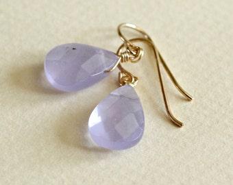 Lavender Earrings-Lavender Teardrop Earrings-Purple Earrings-Lilac Earrings-Lavender Teardrops-Lavender Drops-Lavender Dangle Earrings