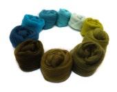 Merino Wool - Spinning - Needle Felting - Blending - Carding fibres - Jade - Green - 100g - 3.5oz - UK - BAYOU