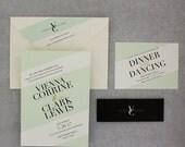 Wedding Invitations, Modern Wedding Invitations, Urban Chic, Bold, Geometric - Vienna Wedding Invitation Sample