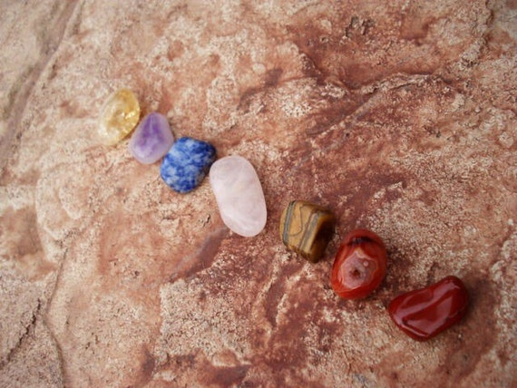 7 Chakra Stones Set, Healing Crystals, Tumbled Stones, Healing Crystals and Stone Set, Crystal and Minerals, Rock and Minerals for Healing