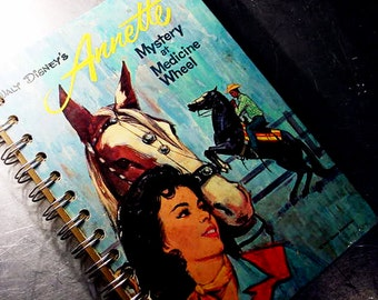 Vintage Walt Disney's ANNETTE Altered Book JOURNAL Notebook- recycled book