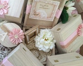 Will you be my maid of honor? Bridesmaid invitation box in blush, ivory, and gold color scheme