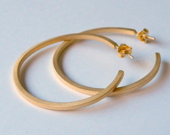 Gold hoop earrings, gold minimal hoop earring, hoop studs, minimal gold studs, geometric earrings, hoop post earrings, craftysou.