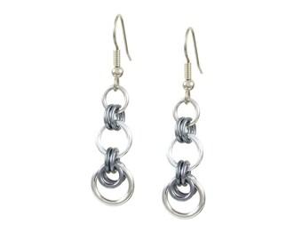 Gunmetal Dangle Earrings