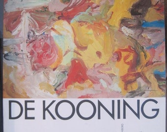 Willem De Kooning, Art Book, Hardcover, 1st Edition, Published by Abrams, 1973