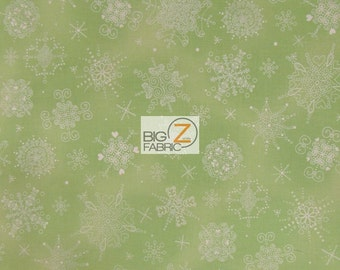 "100% Cotton Fabric By Hoffman California - Evergreen Flakes - 45"" Width Sold By The Yard (FH-1449)"