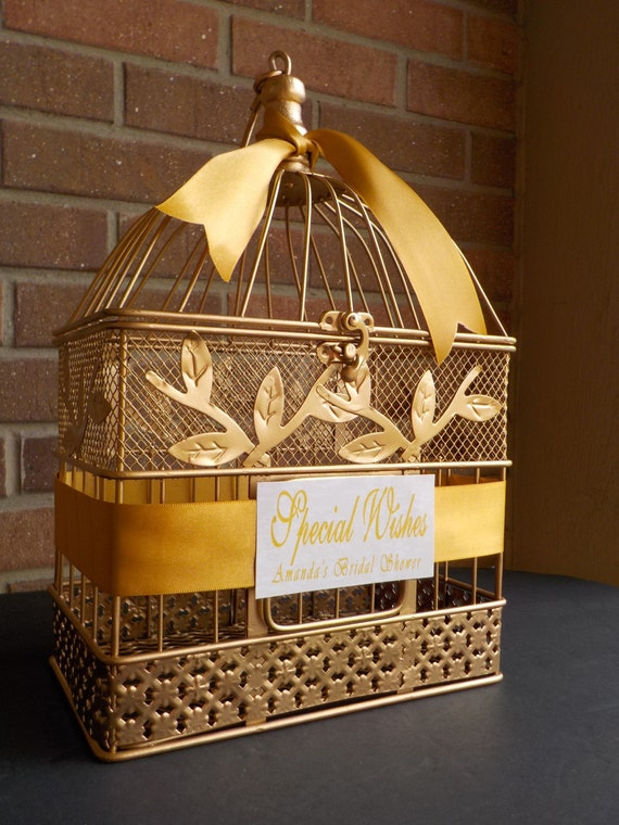 Gold birdcages wedding