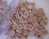 Scrabble Letter Tiles Set of 100 Jewelry Making Mixed Media Collage Scrap Book