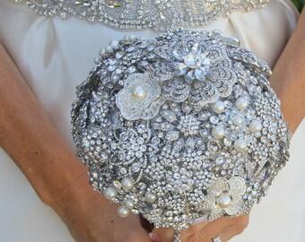 Crystal Bouquet, Brooch Bouquet, Bridal Bouquet, Wedding Bouquet, Bridesmaids Bouquet, Wedding Brooch, Wedding, Wedding Brooch Bouquet