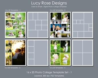 16 x 20 Photo Collage Templates Set - 1