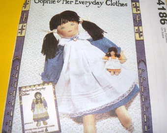 McCalls 4186 Sophie and Her Everyday Clothes Uncut