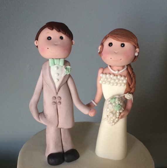gumpaste wedding cake toppers items similar to wedding cake topper and groom 15026