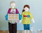 Happytown Play Set - Nana and Gracie Bake Cookies  - PDF doll patterns