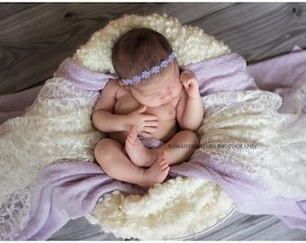 Lavender Flower Headband- Newborn