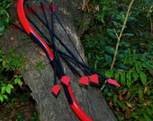 Red Arrow Recurve Bow with 5 Cosplay Arrows