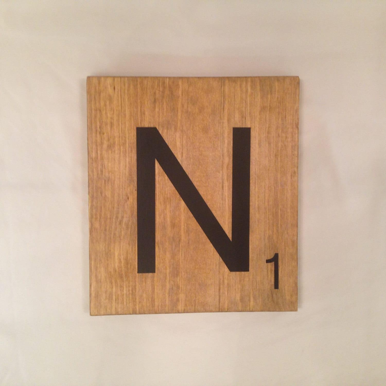Oversized Scrabble Tiles N By Vintageaffairstudio On Etsy