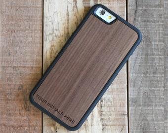 Monogram iPhone 6 Case, Wood iPhone 6 Monogram Case, iphone 6 case - MONO-SHK-W-I6