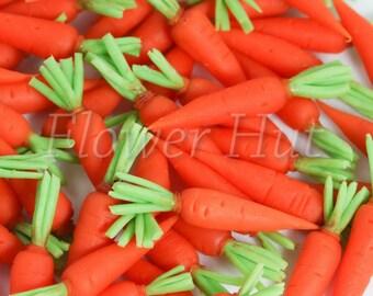 Handmade Premium Carrot dollhouse miniature VEGETABLE 1:12th (20 pcs)