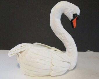 large white swan cake topper wedding bridal sugar gum paste edible swan lake ballet ballerina