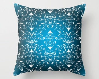 Blue Pattern Pillow cover Retro Pillow Throw pillow Cushion covers Pillow case Accent pillow Couch pillow Geometric pillows Blue Pattern