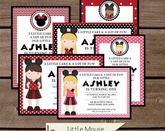Custom Minnie Mouse Birthday Party Printable Invitation
