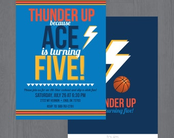 Thunder Birthday Party Invitation