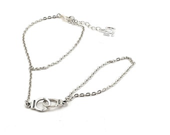 Fifty shades of Grey hand chain bracelet whit cuffs