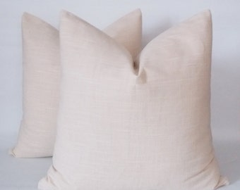Natural Linen Pillow Cover, Set of 2 / Rav Linen, Pure Linen Pillows, Linen Throw pillow, Decorative Pillow cover