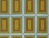 SALE Earthworks in Arizona by Parson Gray for Free Spirit Fabric 1/2 Yard -  Shaman - Quilt Fabric Geometric Mustard Yellow Blue