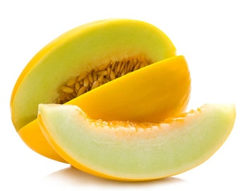 Heirloom Yellow Canary Melon, Sweet Tasting Melon, Easy to Grow, 25 Seeds