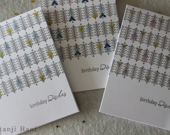 Birthday Cards - Set of 3